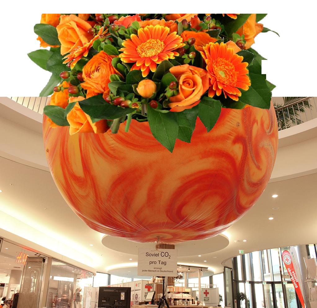 2015-10-10 CO2 Ballon mit Blumen