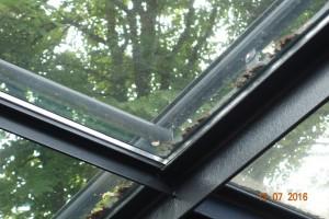 Detail der Dachkonstruktion Büro Beecken