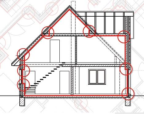Luftdichtheit von Gebäuden - Luftdichtheitskonzept, Qualitätssicherung, Messung der Luftdurchlässigkeit