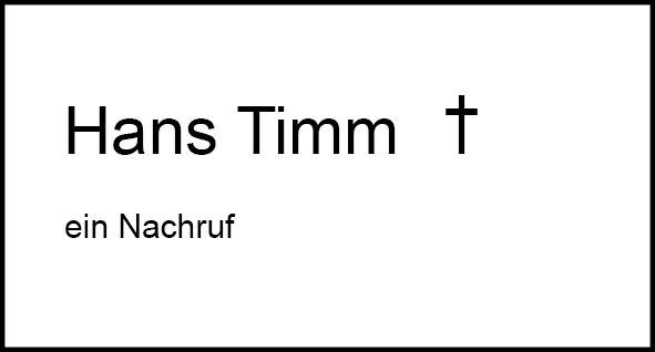 Hans Timm