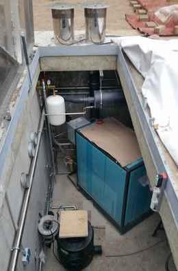 Stahlbetonraumzellen für unterirdische Montage der Haustechnik
