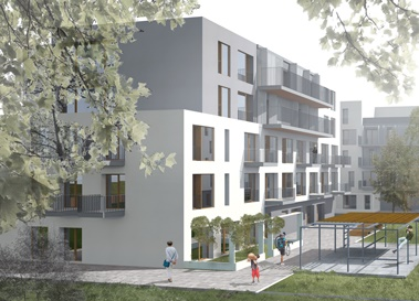 Besichtigung Quartier Weißensee in Hybridholzbau